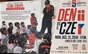 IIHF World Junior Championships. Dec 31. DEN vs CZE. 1 pair.