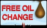 Free Oil Change ( Read Instructions) July 28 - Aug 15