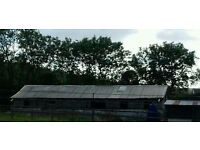 Scrap metal sheet roofing. Approximately 200 m2. Available soon.