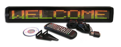 New Color Led Programmable Scrolling Message Display Sign 26x4 Free Shipping