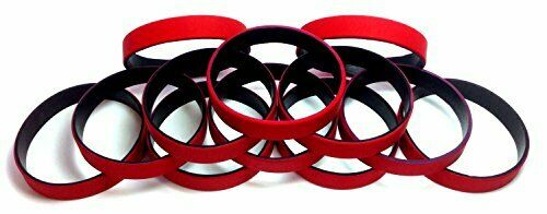 TheAwristocrat 1 Dozen Multi-Pack BLANK Rubber Wristbands 12 Silicone Bracelets