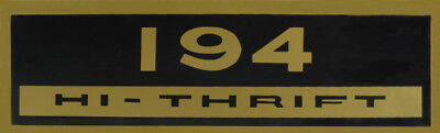 1962-Early 1964 Chevy II/Nova 194 Hi-Thrift Valve Cover Decal,