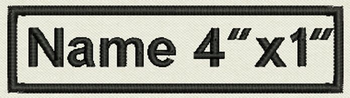 """6 Custom Embroidered , Name Tag, Biker Patch, badge 4"""" x 1"""" Iron On or Sew On"""