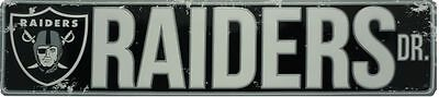 OAKLAND RAIDERS STREET METAL 24 X 5.5