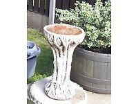 Bird bath and stand