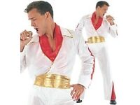 ELVIS ROCK STAR FANCY DRESS OUTFIT SIZE M GREAT FOR PARTY /STAG DO OR HALLOWEEN