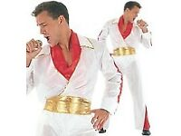 ELVIS ROCK STAR FANCY DRESS OUTFIT GREAT FOR PARTY OR STAG DO SAYS ONE SIZE BUT ABOUT A MEDIUM