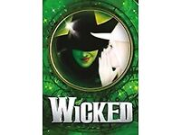 Great seat ticket wicked Saturday 2nd 7.30pm