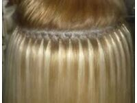 Nano ring human hair extension 12 month guarantee on hair ..£250 for full head March only