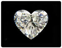 Silver Heart-Shaped Diamond Necklace