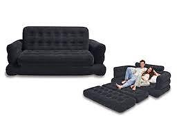Intex Inflatable Pull Out Sofa Bed Queen Size Double Mattress