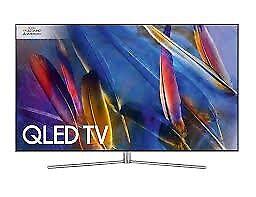 "Samsung QE49Q7F QLED HDR 1500 4K Ultra HD Smart TV, 49"" with TVPlus/Freesat HD & 360 Design"