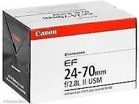 Canon EF 24-70mm f/2.8L II USM BRAND NEW
