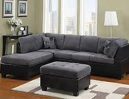 SALE ON NOW 3PCS SECTONAL WITH FREE OTTOMAN $549 LOWEST PRICES GUARANTEED
