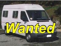 A camper van,Motorhome Wanted