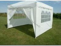3m x 3m Foldable Pop Up Gazebo Tent with Sidewalls and Doors - white