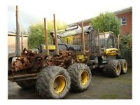 2008 PONSSE BUFFALO 8W FORWARDER WITH PONSSE K90M CRANE, S/N 90981