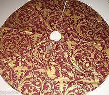 christmas tree skirts burlap collectibles crafts ebay. Black Bedroom Furniture Sets. Home Design Ideas