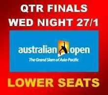 2 AUSTRALIAN OPEN LOWER TENNIS TICKETS WEDNESDAY NIGHT JAN 27TH Melbourne CBD Melbourne City Preview