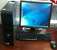 Dell Optiplex GX520 + 19 inch monitor with keyboard and mouse!