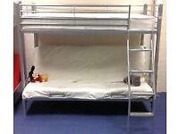 High sleeper bed with futon and memory foam mattress