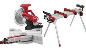 Milwaukee 12-inch Dual-Bevel Sliding Compound Mitre Saw + Stand