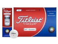 BOX OF 12 TITLEIST DT CARRY GOLF BALLS
