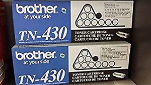 Brother TN-430 Toner - Two Genuine Cartridges