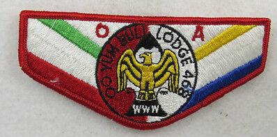 "OA Lodge 468 Oo Yum Buli S14 Flap RED ""OA""  (Red Border) [E10235]"