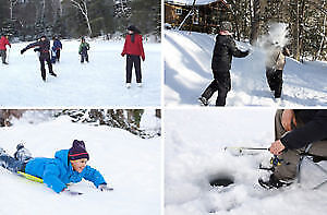 ▒WINTER WKEND▒ TOBOGGAN,SKATING, HOT TUB,  SKIDOO RIDES FOR KIDS