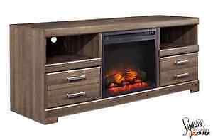 tv stand with fire place insert