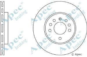 Apec Braking OE Quality Replacement Single Brake Disc Disk - DSK578