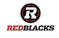 10 X Red Blacks VS Montreal, Friday August 7th, row 1 Seats !