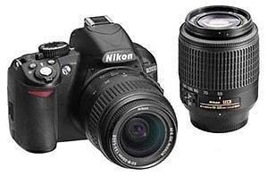 Nikon D3100 with 18-55mm and 55-200mm lense kits