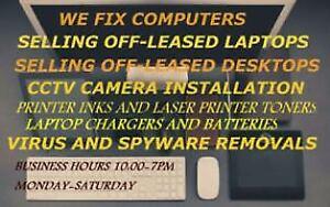 Laptops computer repairs, Cleaning spyware malware and virus