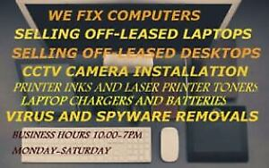 we fix computers laptops, virus malware removals n upgrades etc