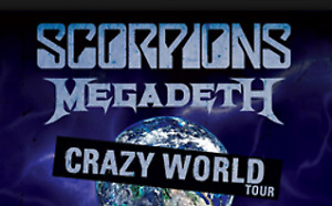 2 Scorpions / Megadeth Concert Tickets - great lower bowl seats