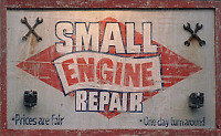 Small engine repair at a fraction of the price