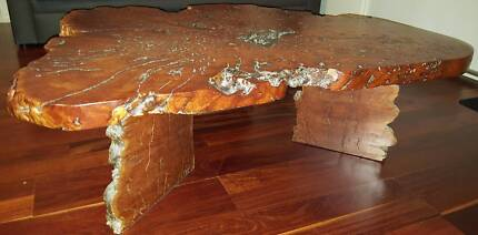 Red Gum Slab Topped Coffee Table