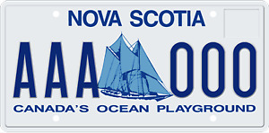 LOOKING FOR: Nova Scotia livense plate
