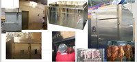 smokehouse,tumbler,grinder,mixer,cutter,Injector,trolleys,trays