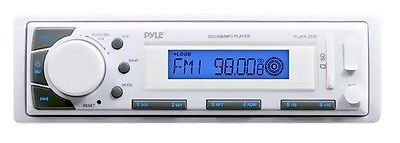 NEW Pyle PLMR20W Marine Stereo AM/FM Receiver USB/SD Player AUX-IN for iPod/MP3