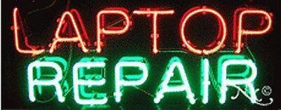 New Laptop Repair 32x13x3 Computer Real Neon Sign Wcustom Options 10485