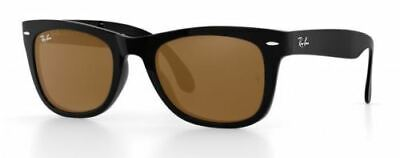 Ray Ban 4105 54 Wayfarer Plegable Polished Black Remix Marrón Sunglasses Gafas