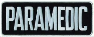 Paramedic Black White 4 X 11 Emblem Patch Embroidered Sew On Jacket Back