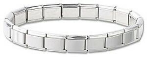 18-Links-Starter-Italian-Charm-Bracelet-Shiny-Stainless-Steel-Free-Shipping-New