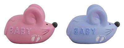 Spardose Maus Baby Taufe Geburt,  rosa oder blau,  Keramik