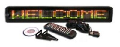 Tri-color Led Programmable Display Indoor Sign Wireless Remote 26x4