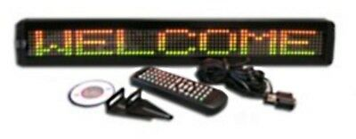 Tricolor Led Programmable Display Indoor Sign With Wireless Remote 26x4