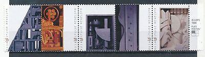 TIMBRE STAMP ZEGEL U.S.A. AMERIQUE SCULPTURES LOUISE HEVELSON 3042-3046 XX